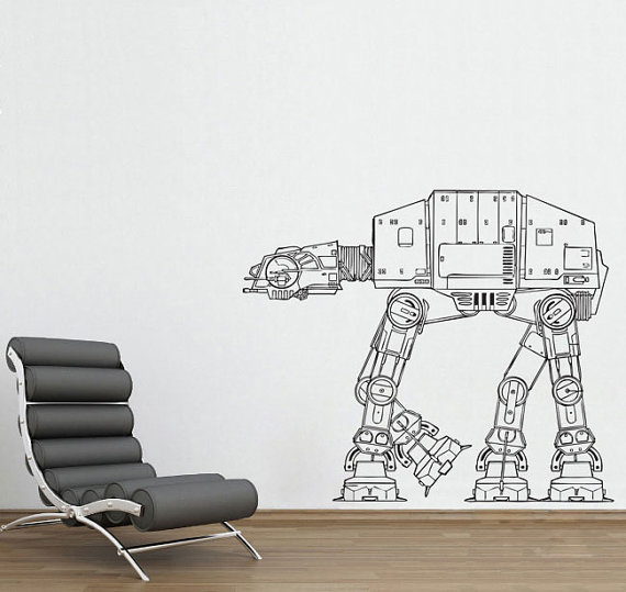 Star Wars AT AT Walker Vinyl Wall Decal